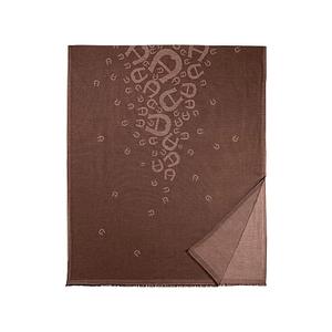 Logo M-Shawl-Bitter chocolate brown